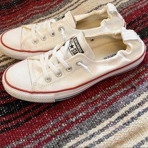Converse All Star White Shoreline Slip Sneakers